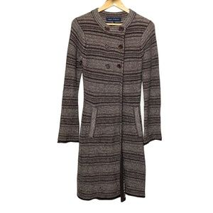 French Connection Wool Sweater Coat Brown | Small